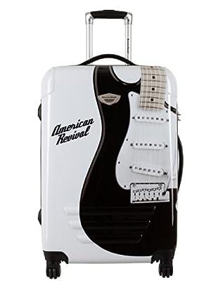 American Revival Trolley Guitare Pequeño (Blanco)