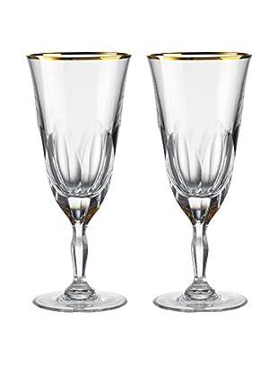 Rogaška Set of 2 Aulide 11-Oz. Iced Tea Glasses, Gold