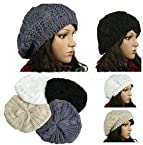 Beanie - Skull Cap - Hat - Knit Crochet - Black