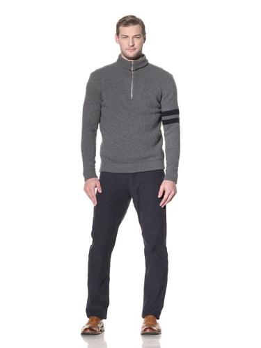 Benson Men's Quarter-Zip Sweater (Charcoal)