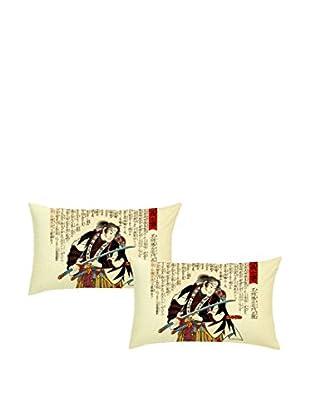 JAPAN MANIA by MANIFATTURE COTONIERE Kopfkissenbezug 2er Set Ronin
