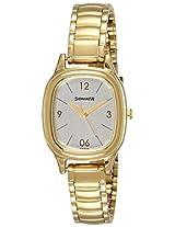 Sonata Analog Silver Dial Women's Watch (8060YM01)