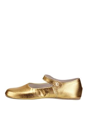Rachel Riley Zapatos Button Strap Rrshoe1bme (Dorado)