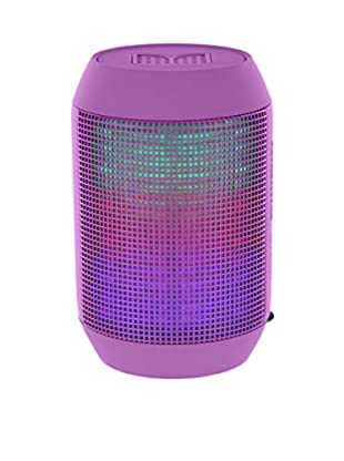 iPM Pump It Up LED Light Up Bluetooth Speaker, Purple