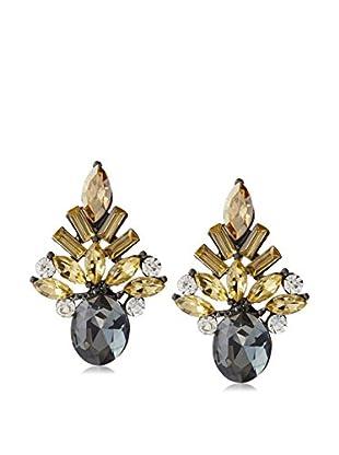 Stella & Ruby Gunmetal Petal Earrings