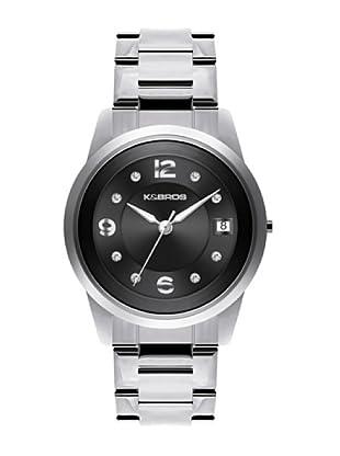 K&BROS 9182-1 / Reloj de Señora  con brazalete metálico negro