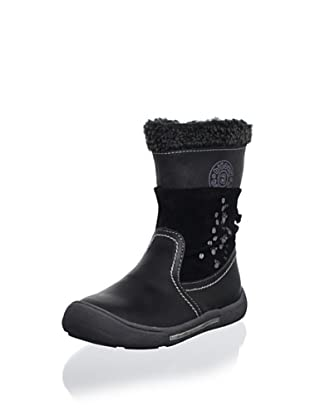 Billowy Kid's Footprint Boot (Black)