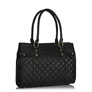 P.H.A.T quilted handbag in black for Women
