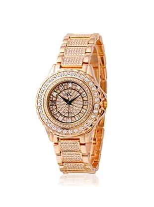 Adee Kaye Women's 9-10LRG/CR Rose/Crystal Brass Watch