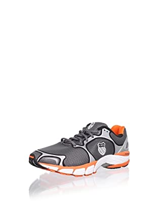 K-Swiss Men's California Running Shoe (Charcoal/Silver/Orange)