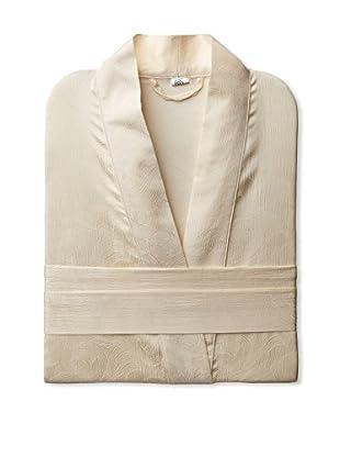 Yala Designs Silk Jacquard Robe (Ivory)
