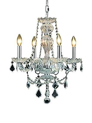 Crystal Lighting Giselle 4-Light Chandelier, Chrome