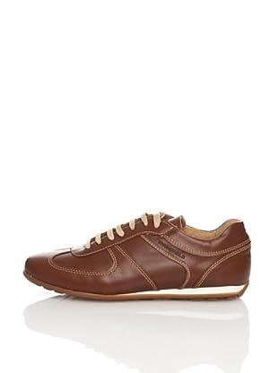 Springfield Zapatos Deportivo Piel Casual (Marrón Oscuro)