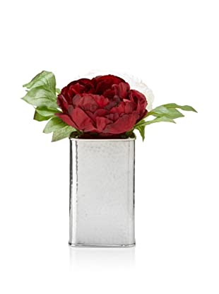 Winward Peonies In Silver Box