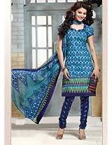 Saara Blue Printed Dress Material - 144D4043