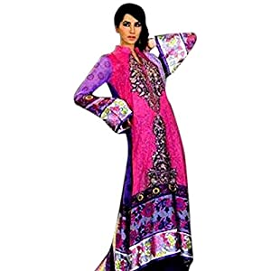 LALAZ SPRING BOUQUET PURPLE PAKISTANI SUIT