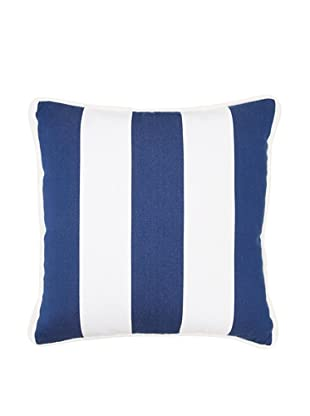 Chateau Blanc Natalie Stripe Pillow, Navy/White, 18