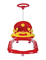 Mee Mee MMW3024 Walker with Parents Push Handle (Red)