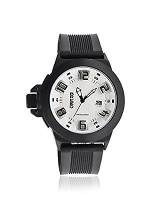 Breed Men's BRD6103 Alpha 2 Black/White Polyurethane Watch