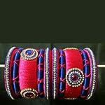 Blue Traditional Bangle Set of 8