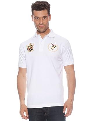 Polo Club Polo manga corta Escudo & Logo (Blanco)