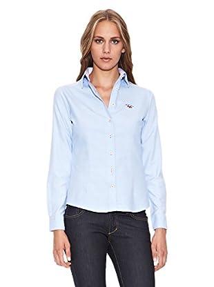 Spagnolo Camisa Oxford Trotta (Azul Celeste)
