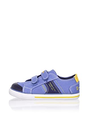 Pablosky Kid's Double-Strap Sneaker (Twill Jeans)