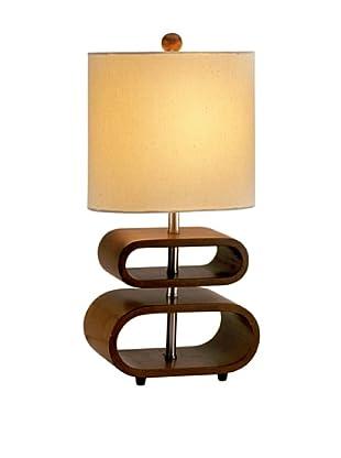 Adesso Rhythm Table Lamp, Walnut