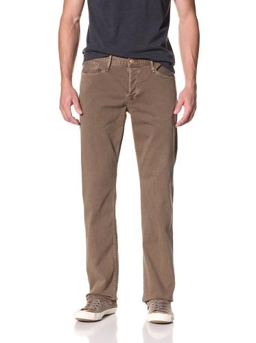 Earnest Sewn Men's Fulton 5 Pocket Straight Jeans (Army)
