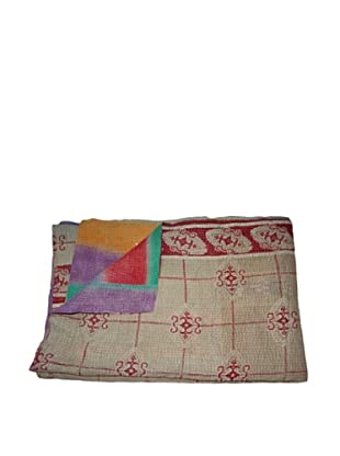 Vintage Navneet Kantha Throw, Multi, 60
