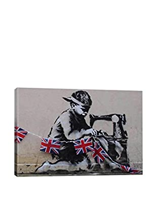 Banksy Sew England Gallery Wrapped Canvas Print