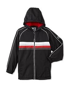 Rothschild Boy's Striped Fleece-Lined Jacket (Black)