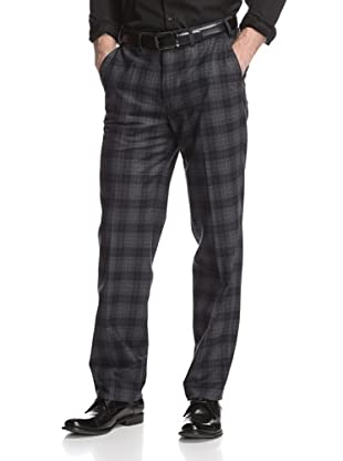 Hiltl Men's Plaid Dress Pants (Dark Navy)