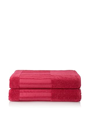 Garnier-Thiebaut Set of 2 Bath Sheets (Framboise)