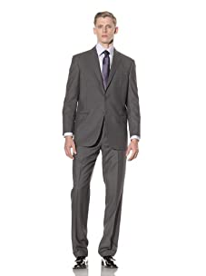 Yves Saint Laurent Men's Pinstripe Suit (Medium Grey)