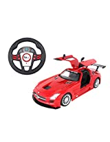Toyhouse Officially Licensed Mercedes SLS AMG GT3 1:16 Scale Model Car with Gravity Sensor Remote, Red