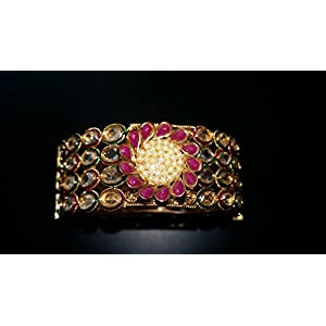 Dreamz Jewels Kundan Kada In Antique Finish Bracelets