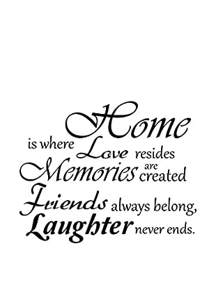 Ambiance Sticker Wandtattoo Home, Love And Laughter