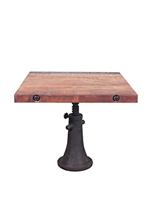 Industrial Chic Reclaimed Wood Square Accent Table