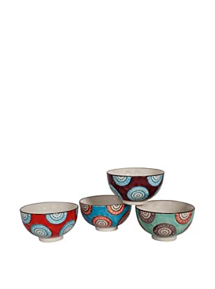 Couleur Nature Set of 4 Ceramic Wheel Bowls