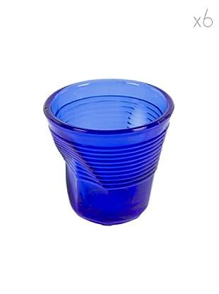 Kaleidos Set 6 Bicchieri Accartocciati 115 ml (Blu)