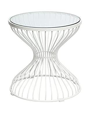 Manhattan Living Glass Squeezed Side Table