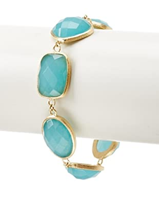 Rivka Friedman Caribbean Blue Quartzite Link Bracelet