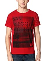 Allen Solly Printed Slim Fit T-Shirt