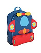 Stephen Joseph Airplane Sidekicks Backpack, Dark Blue/Red