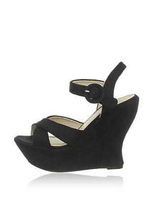Buffalo - Sandalias de caucho  mujer (Negro)