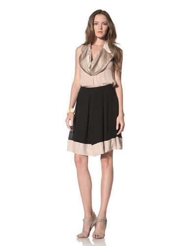 La Fee Verte Women's Pleated Skirt (Black)