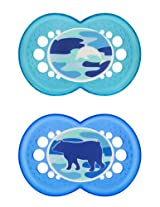 MAM Camo Orthodontic Pacifier, Boy, 16+ Months, 2-Count