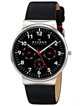 Skagen Ancher Analog Black Dial Men's Watch - SKW6096