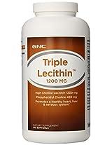 GNC Triple Lecithin 1200,180 Softgel Capsules